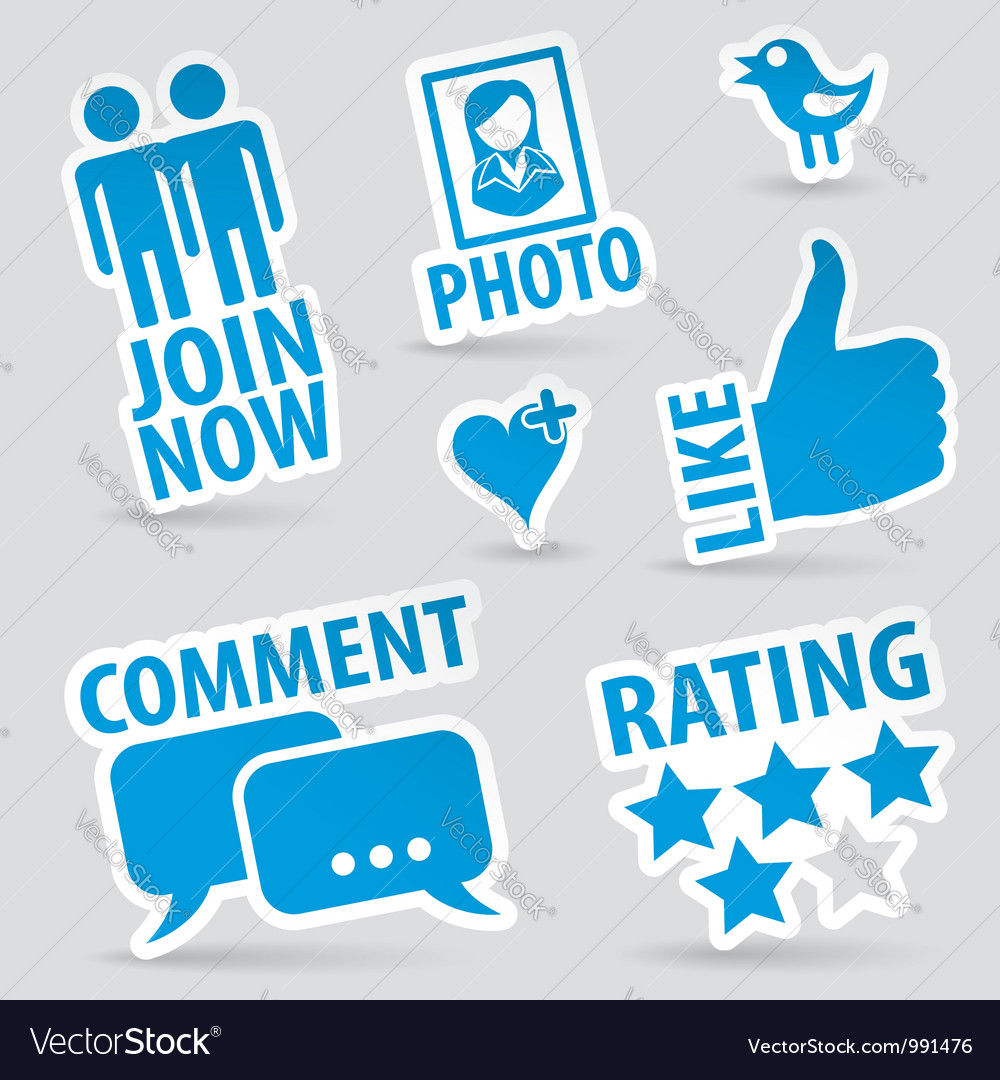 Set social media icons vector | Price: 1 Credit (USD $1)