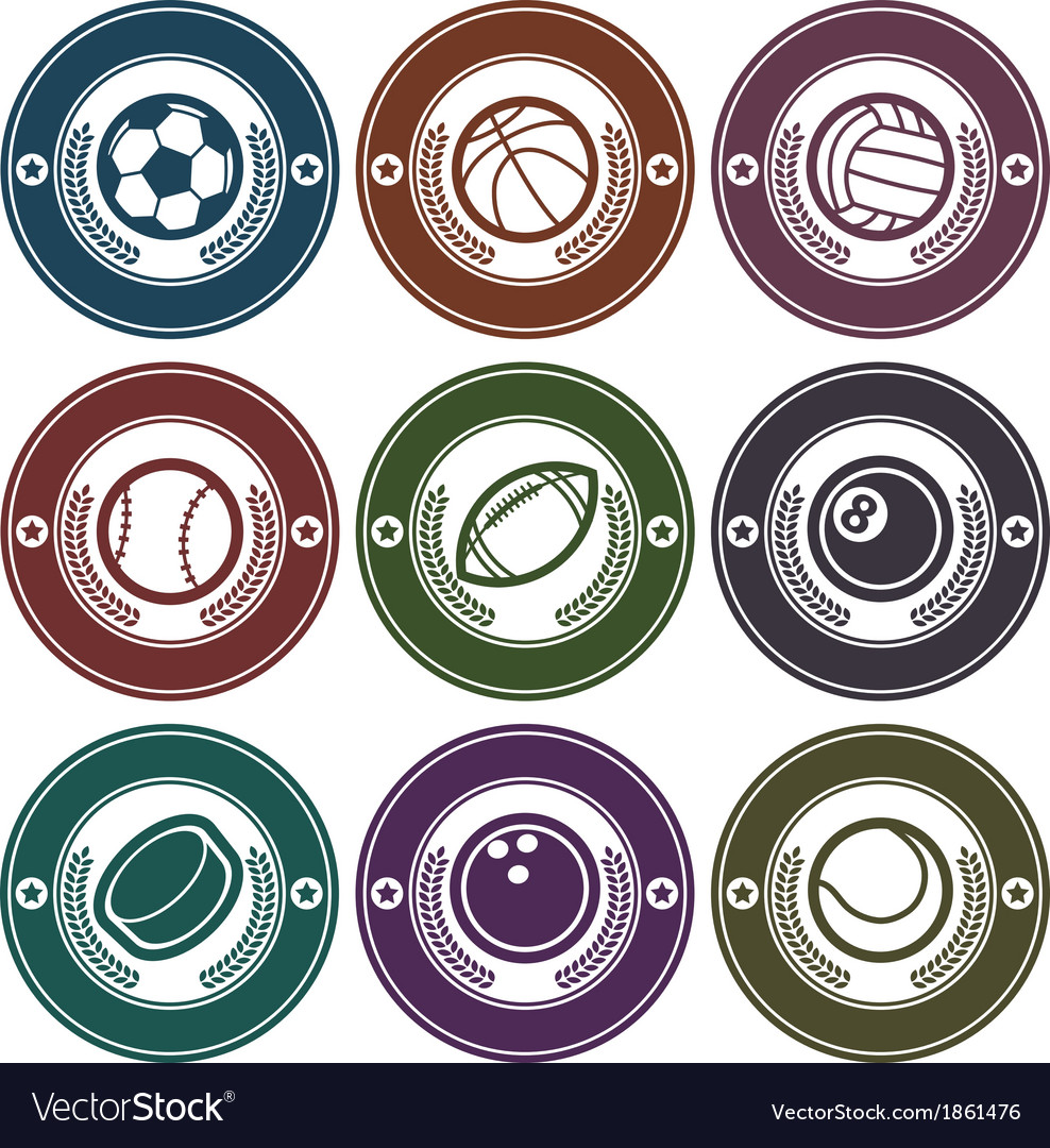 Sport balls emblems vector | Price: 1 Credit (USD $1)
