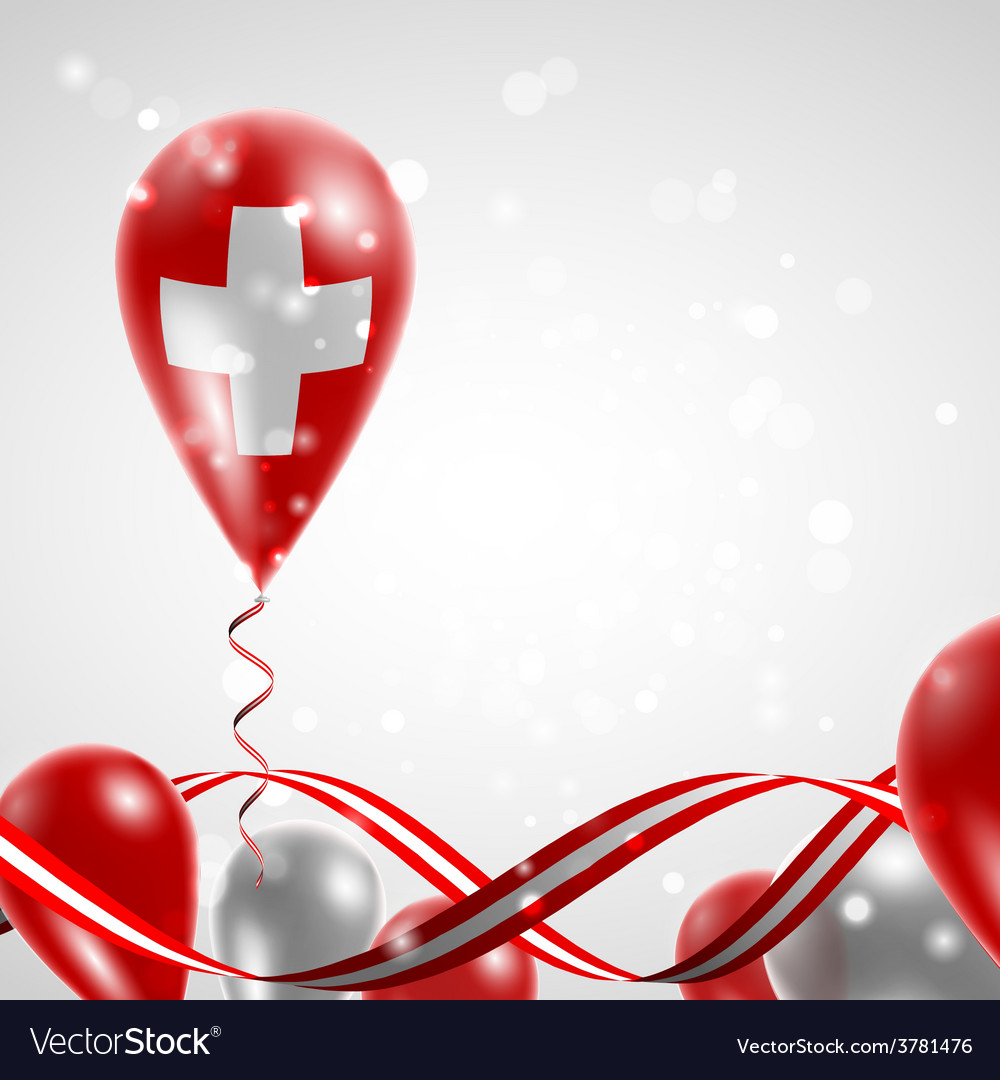 Swiss flag on balloon vector | Price: 3 Credit (USD $3)