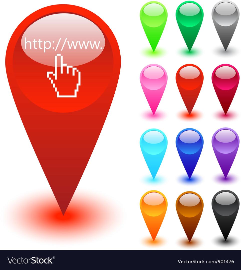 Web site address button vector | Price: 1 Credit (USD $1)