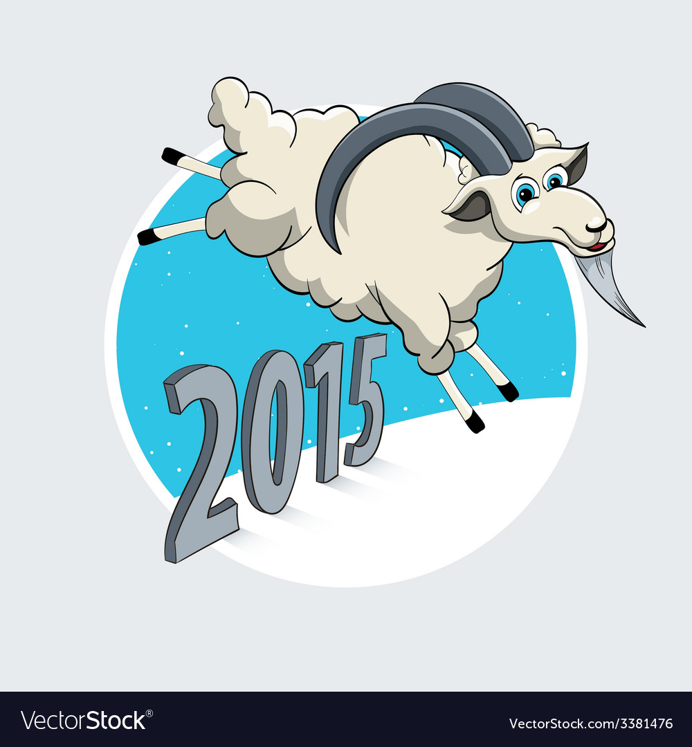 Year of the goat vector   Price: 1 Credit (USD $1)