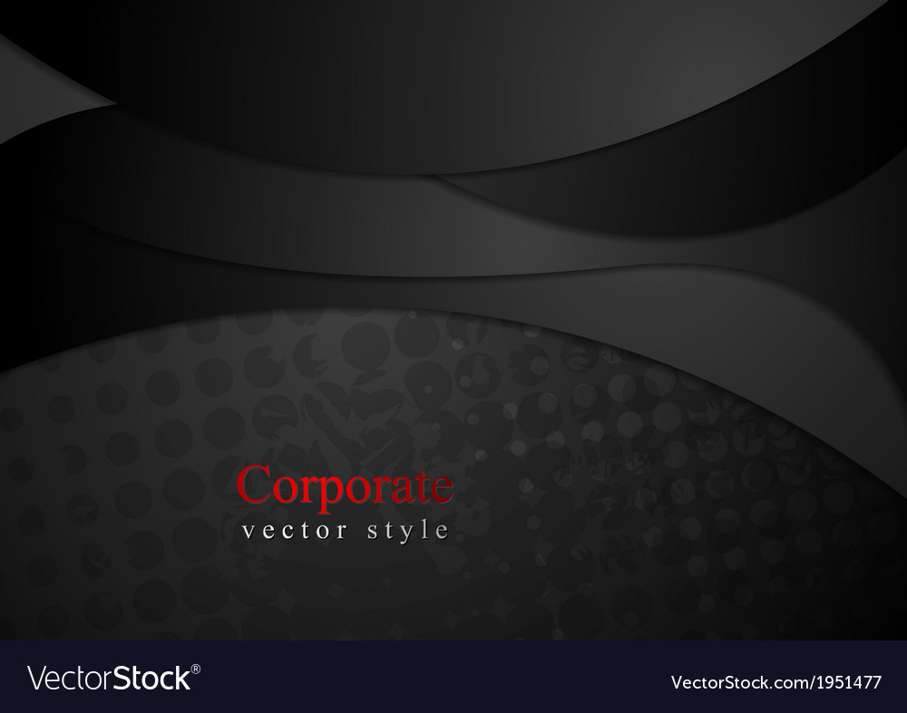 Abstract black waves modern design vector | Price: 1 Credit (USD $1)