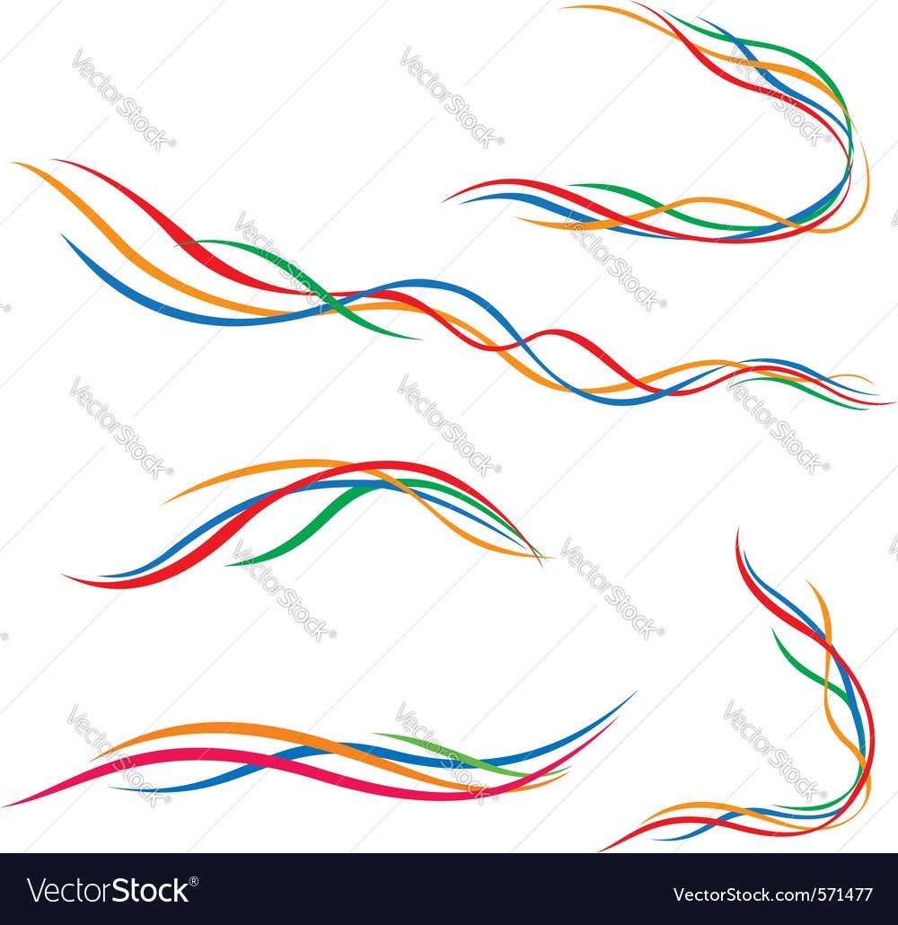 Abstract lines collection of vector | Price: 1 Credit (USD $1)
