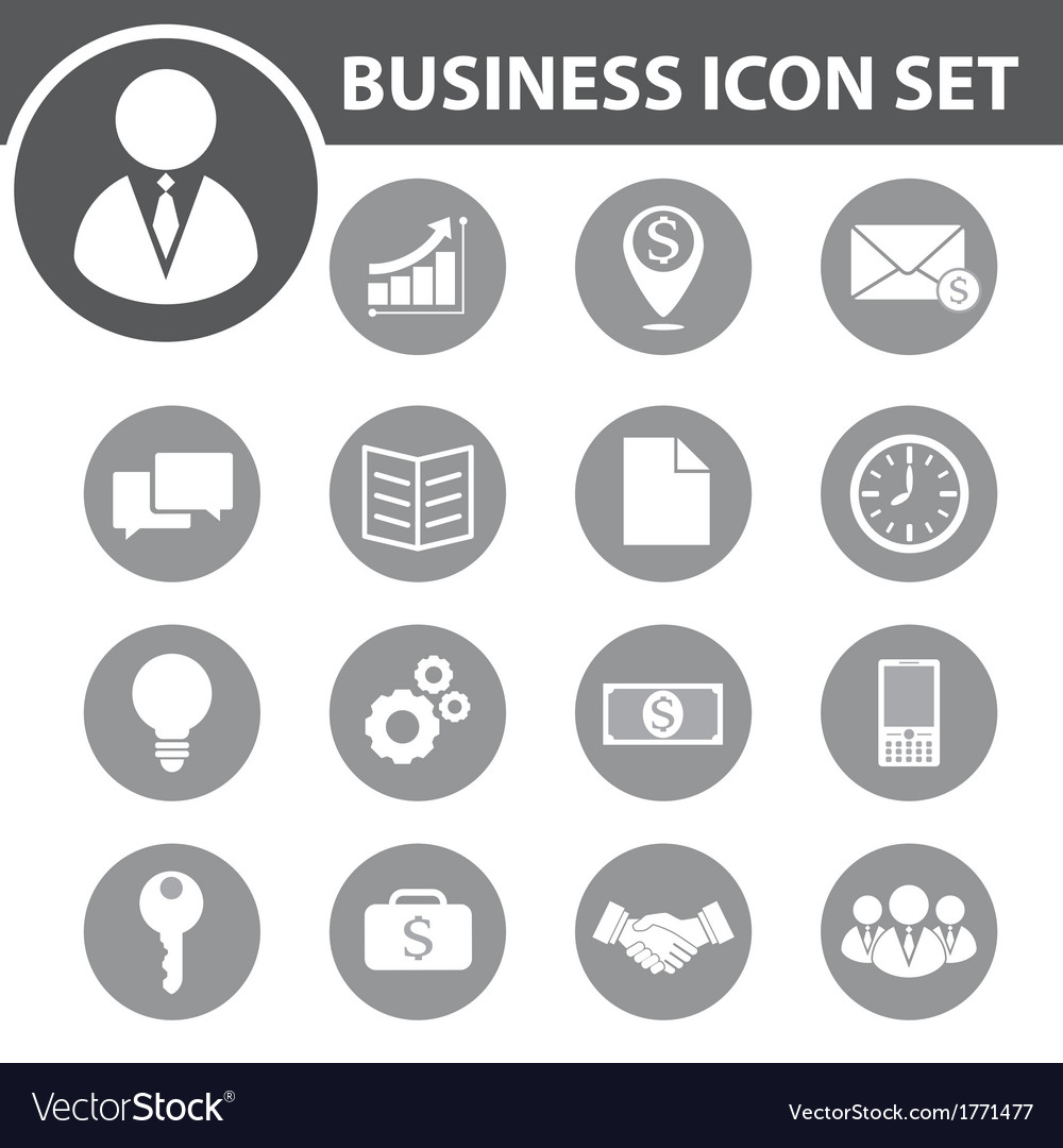 Business icon set vector | Price: 1 Credit (USD $1)