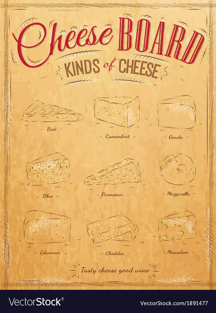 Cheeseboard kraft vector | Price: 1 Credit (USD $1)