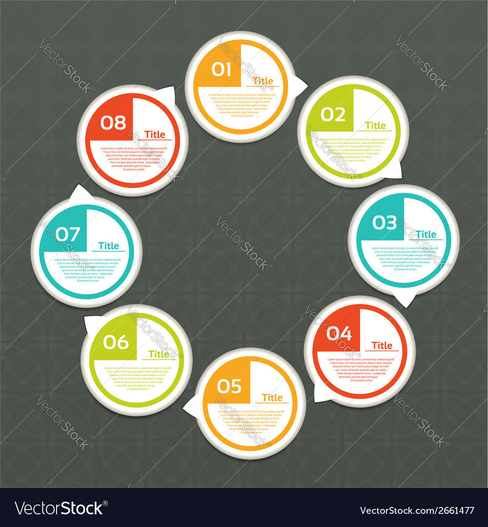 Cycle diagram with eight steps vector | Price: 1 Credit (USD $1)