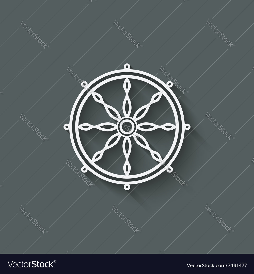 Dharma wheel design element vector | Price: 1 Credit (USD $1)