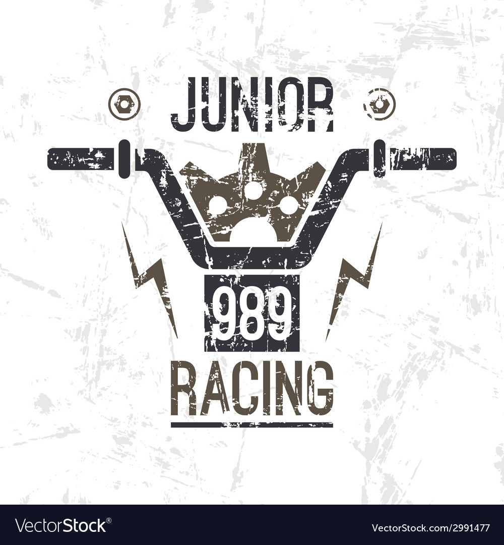 Emblem motorcycle racing junior vector | Price: 1 Credit (USD $1)