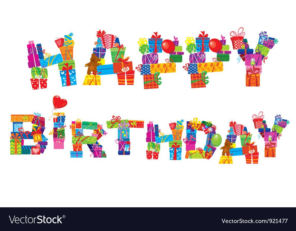 Happy birthday postcard vector | Price: 1 Credit (USD $1)