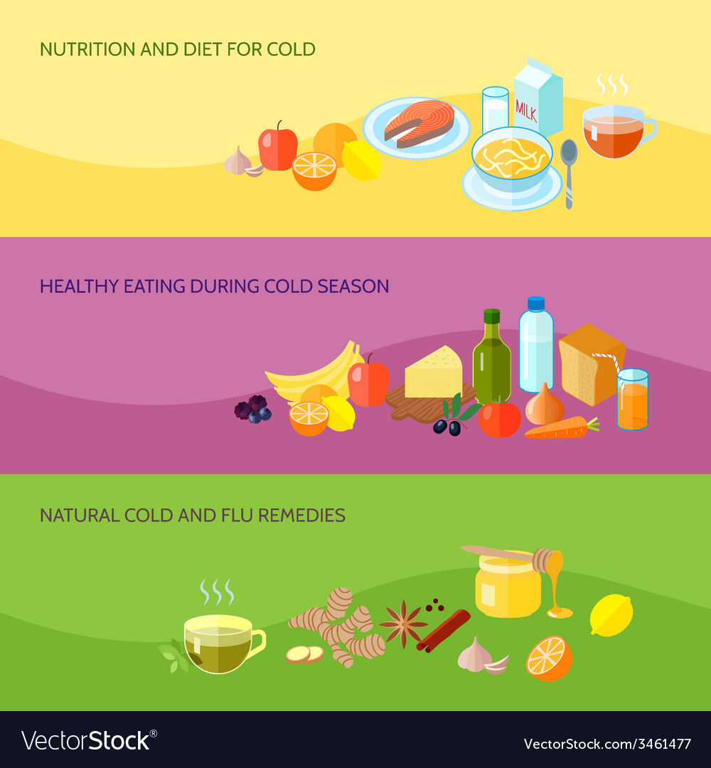 Healthy food banner set vector | Price: 1 Credit (USD $1)