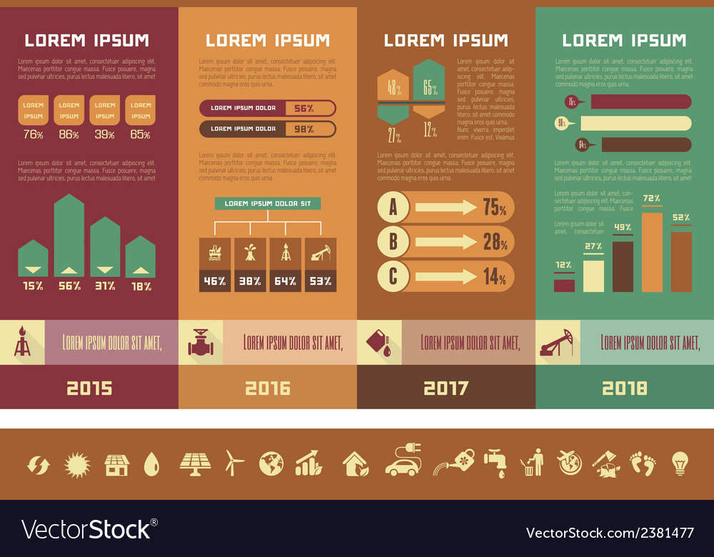 Oil industry infographic template vector | Price: 1 Credit (USD $1)