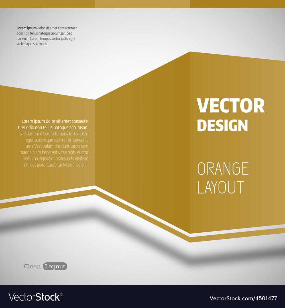 Orange layout vector | Price: 1 Credit (USD $1)