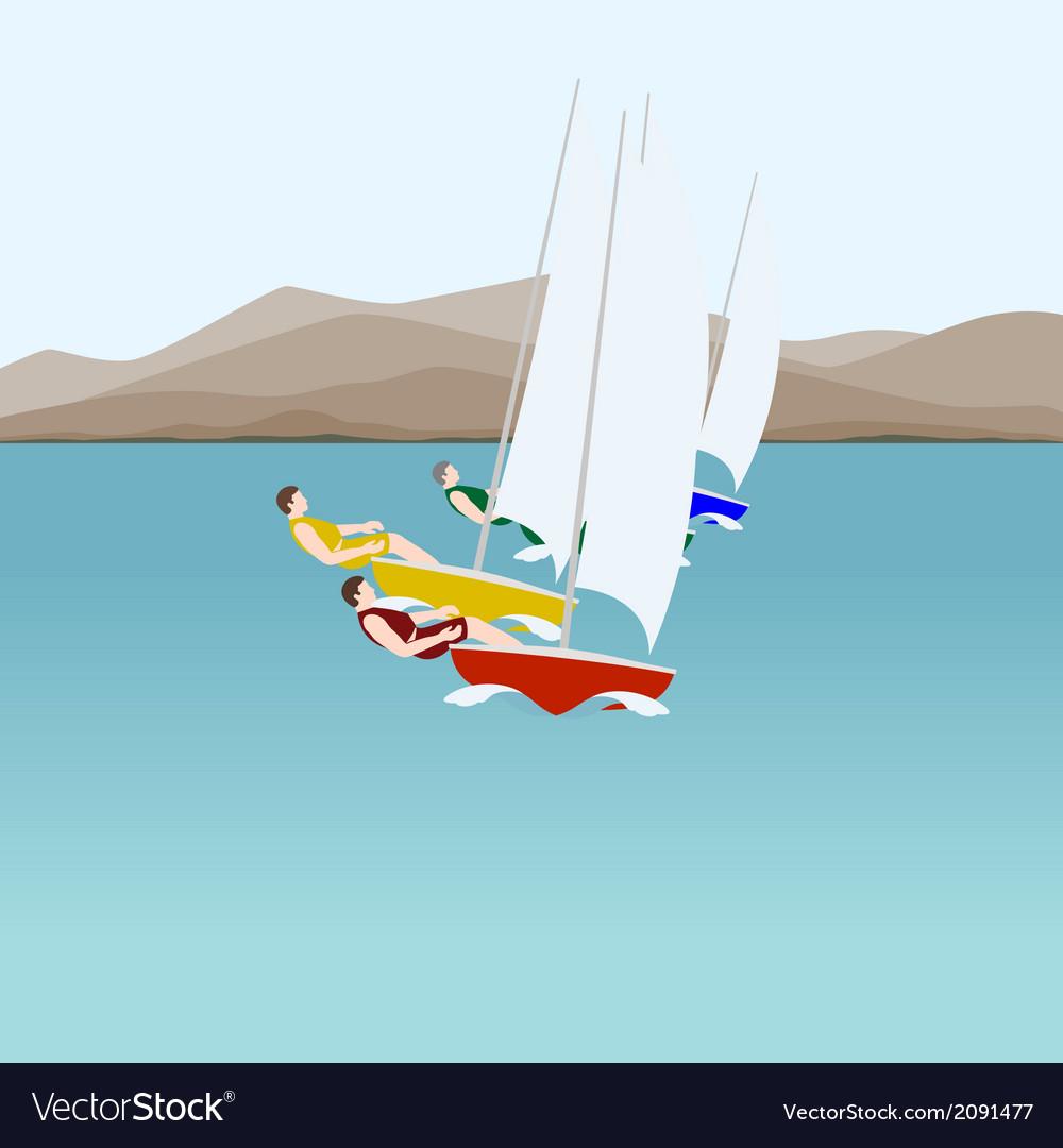 Sail sport vector | Price: 1 Credit (USD $1)
