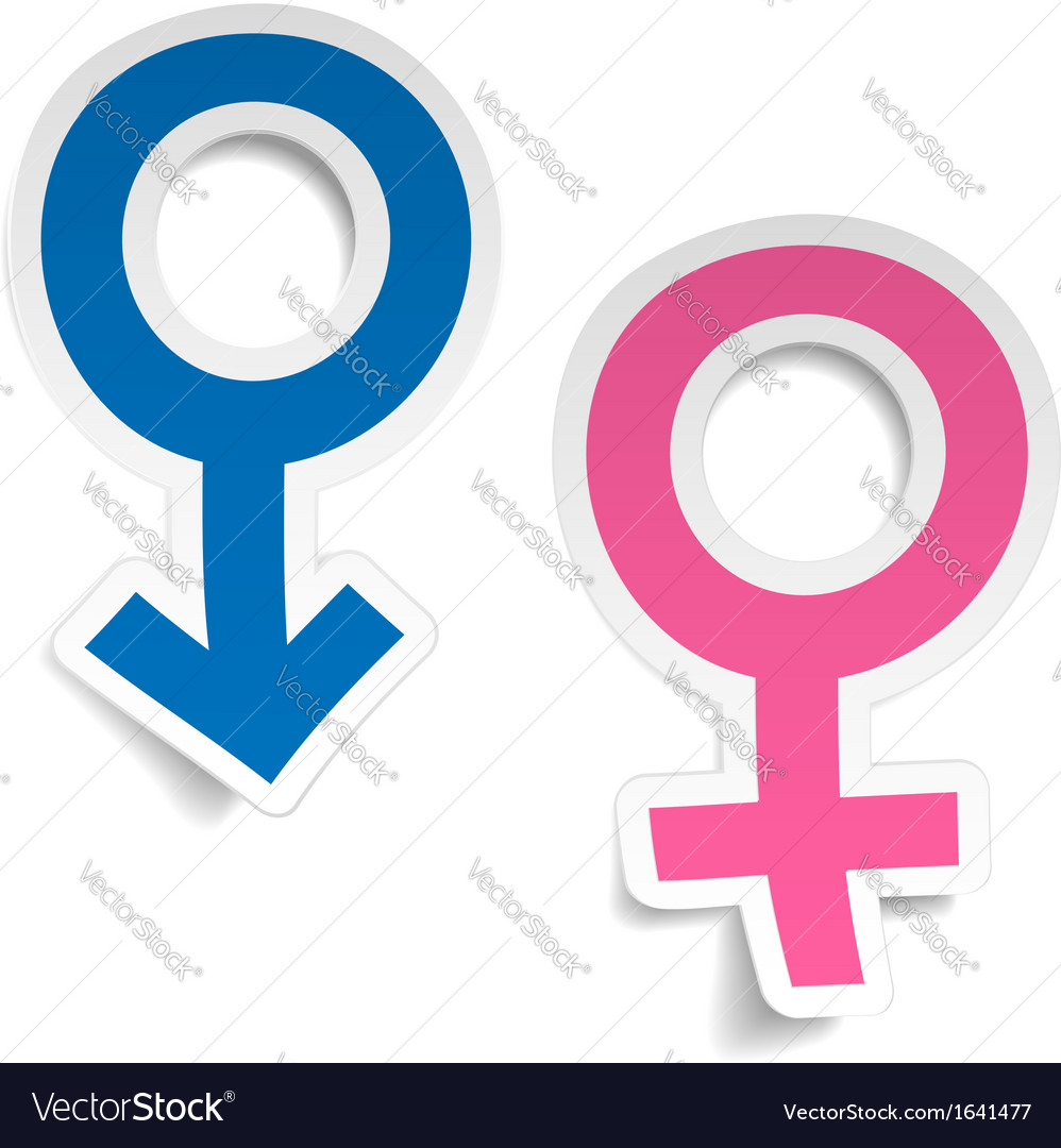 Stickers wtih mars and venus symbols vector | Price: 1 Credit (USD $1)