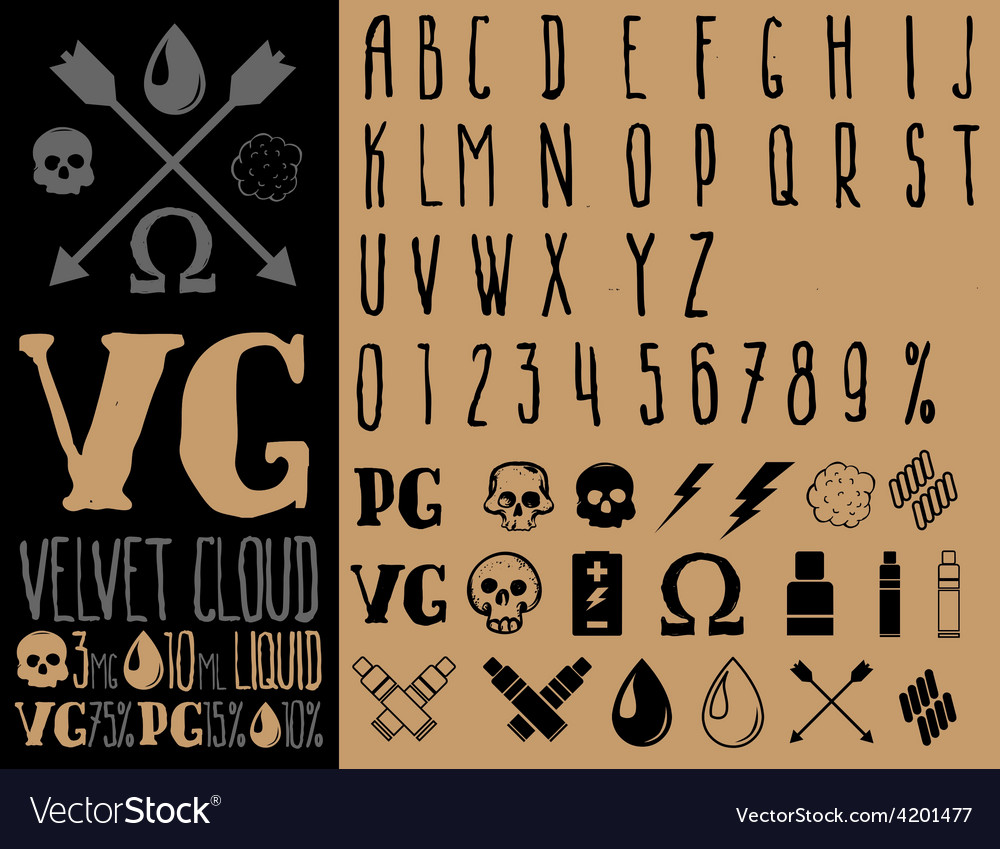 Vape set vector | Price: 1 Credit (USD $1)