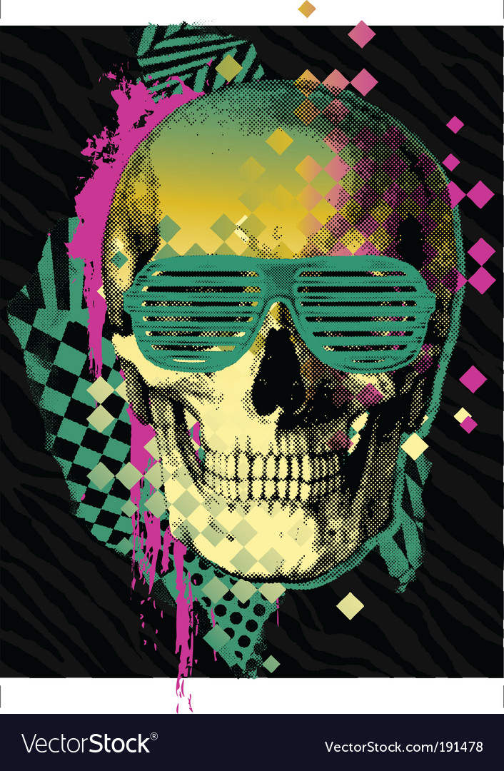 80s skull vector | Price: 1 Credit (USD $1)