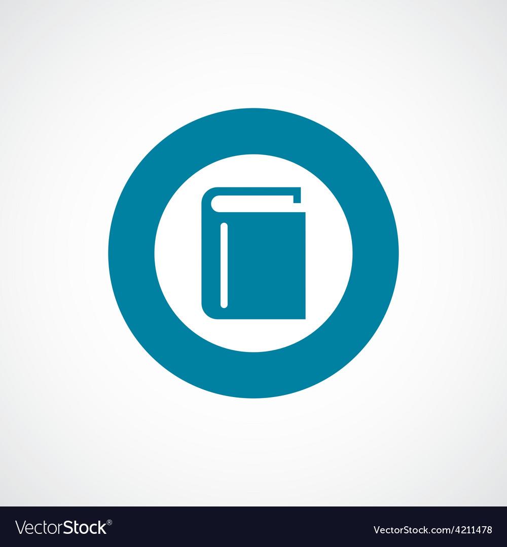 Book icon bold blue circle border vector | Price: 1 Credit (USD $1)