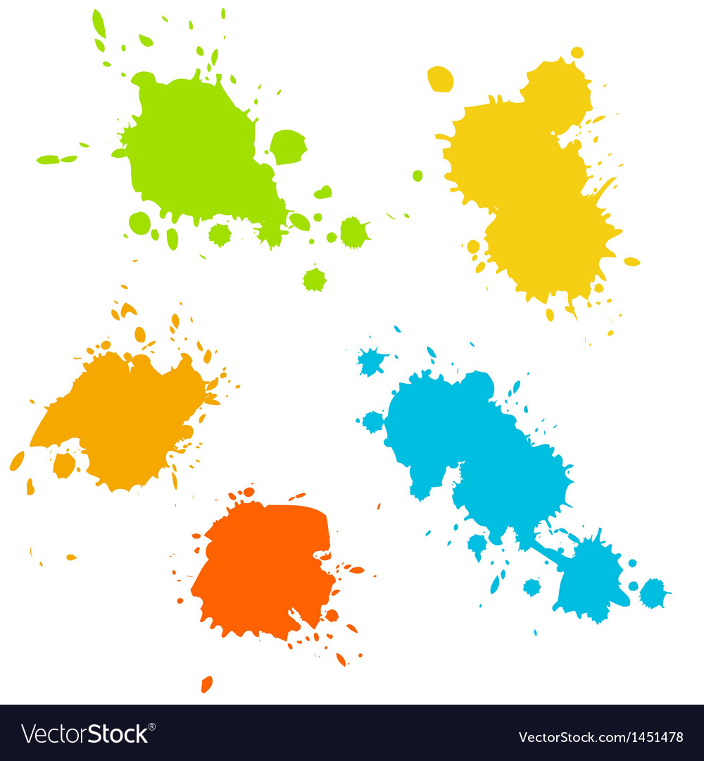 Collection of paint splash vector | Price: 1 Credit (USD $1)