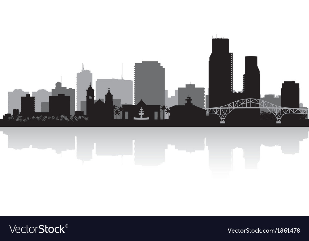 Corpus christi texas city skyline silhouette vector | Price: 1 Credit (USD $1)
