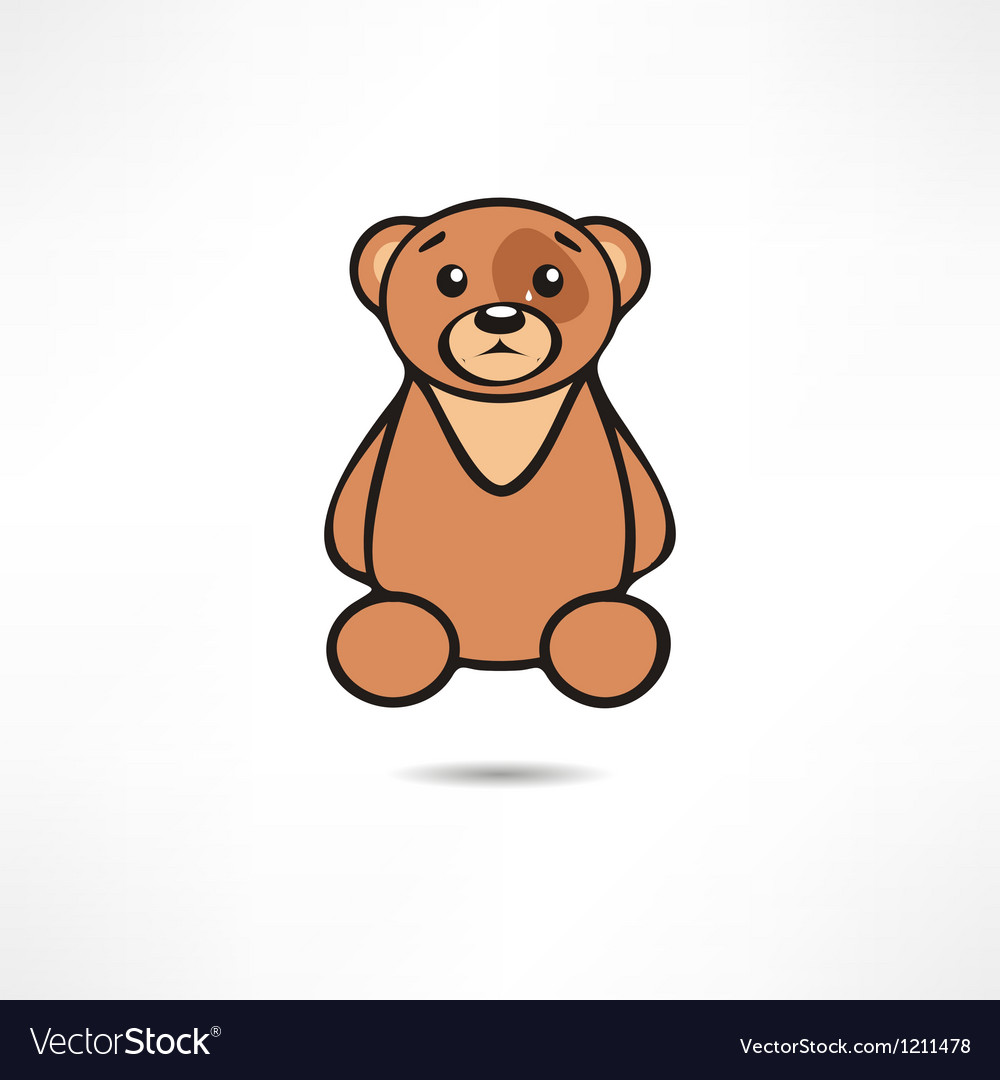 Crying bear vector | Price: 1 Credit (USD $1)