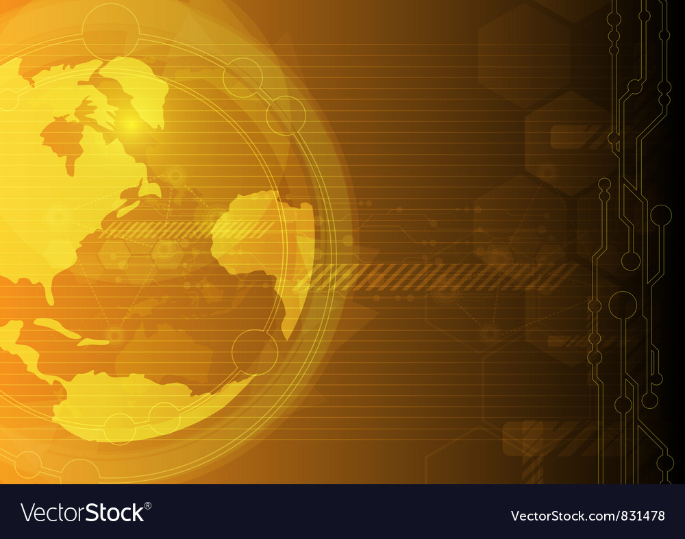 Global concept technology vector | Price: 1 Credit (USD $1)