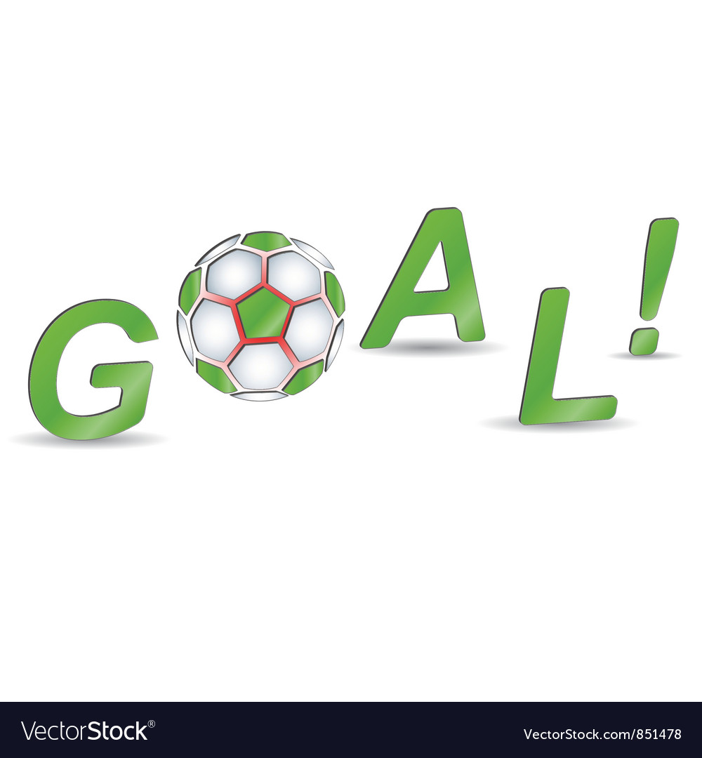 Goal on a white background vector | Price: 1 Credit (USD $1)