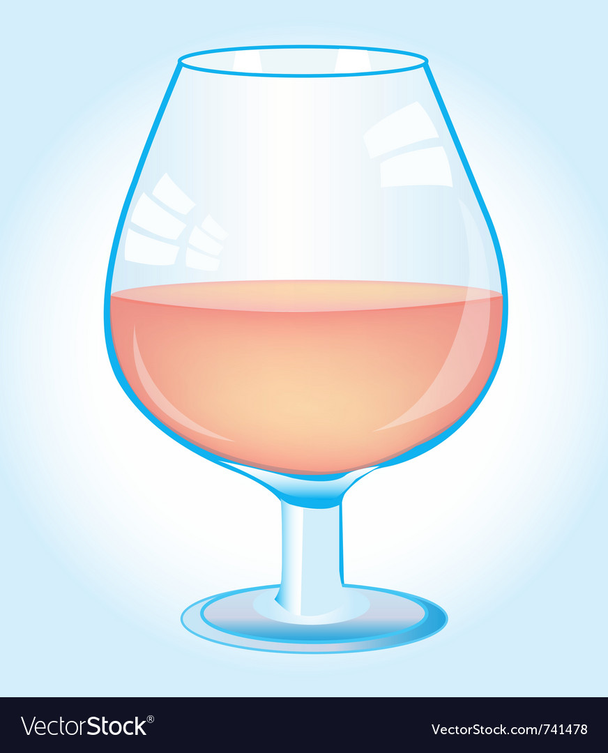 Goblet with red wine vector | Price: 1 Credit (USD $1)