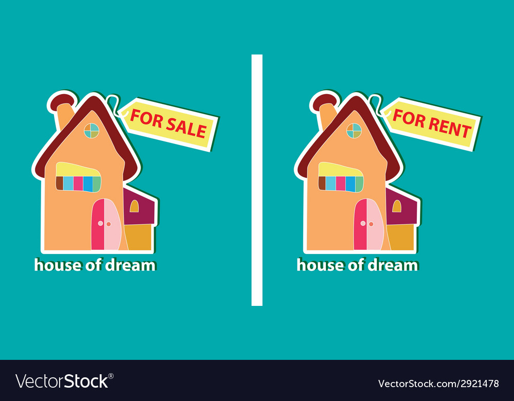 House for sale and for rent vector | Price: 1 Credit (USD $1)