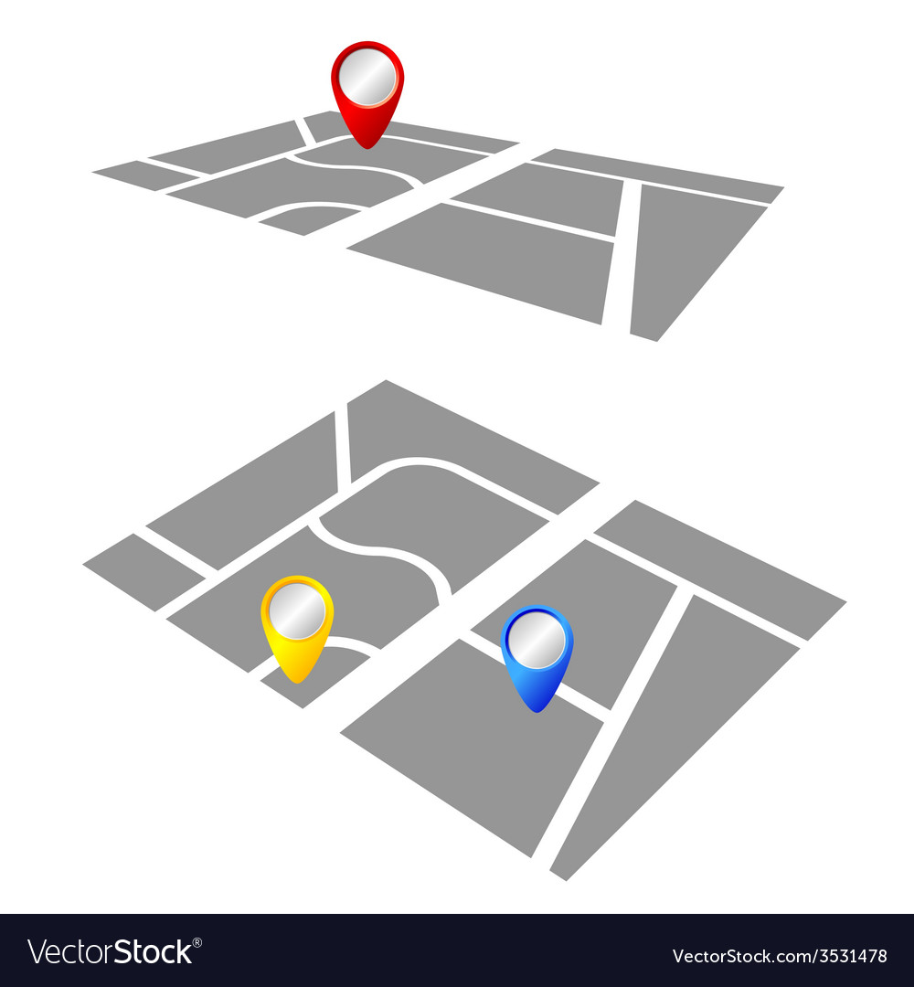 Pointer on the map color vector | Price: 1 Credit (USD $1)