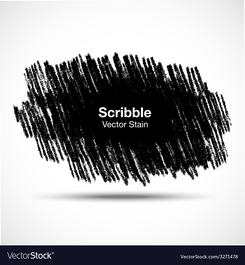 Scribble stain hand drawn in pencil vector | Price: 1 Credit (USD $1)