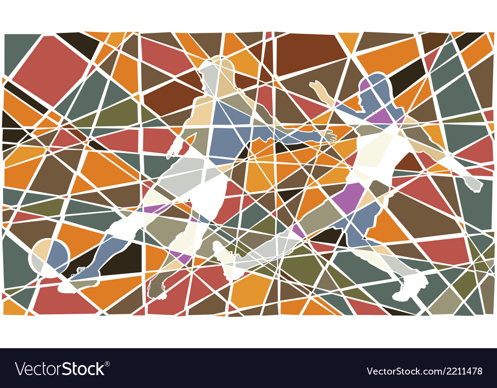 Soccer player mosaic vector | Price: 1 Credit (USD $1)
