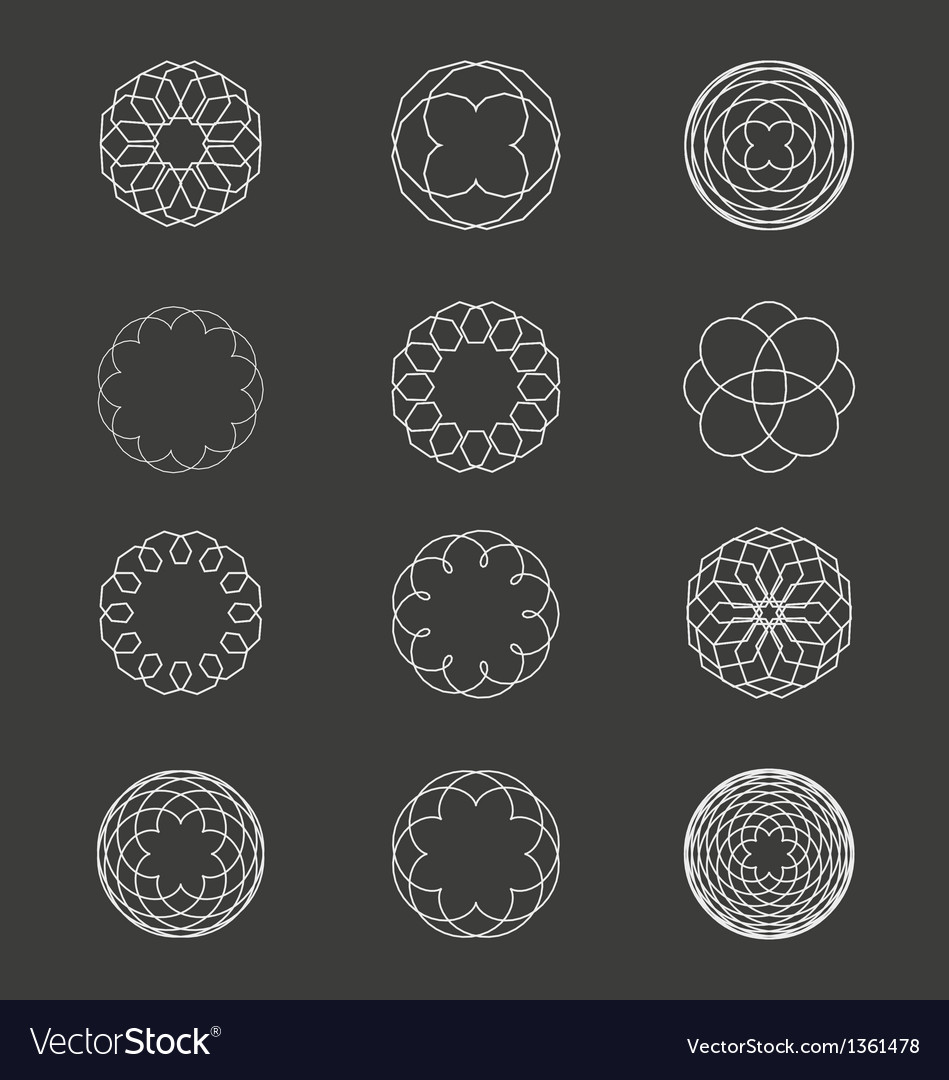 Spiral patterns vector