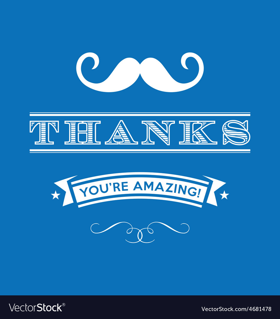 Stylized thanks you are amazing lettering vector   Price: 1 Credit (USD $1)