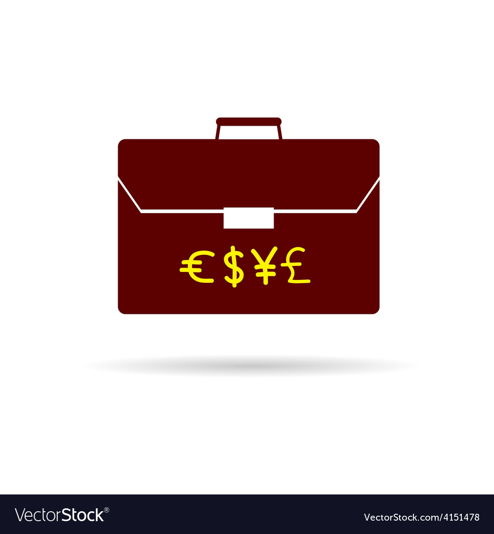 Suitcase with money color vector | Price: 1 Credit (USD $1)
