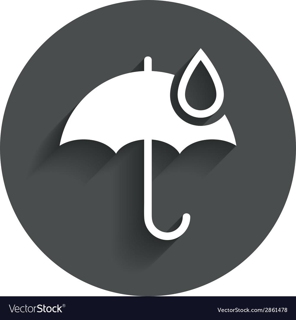 Umbrella sign icon water drop symbol vector   Price: 1 Credit (USD $1)