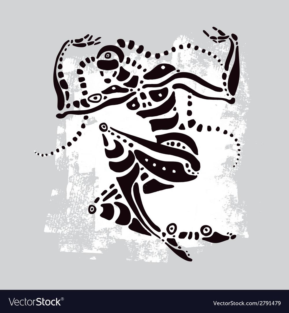 African dancer ethnic vector | Price: 1 Credit (USD $1)