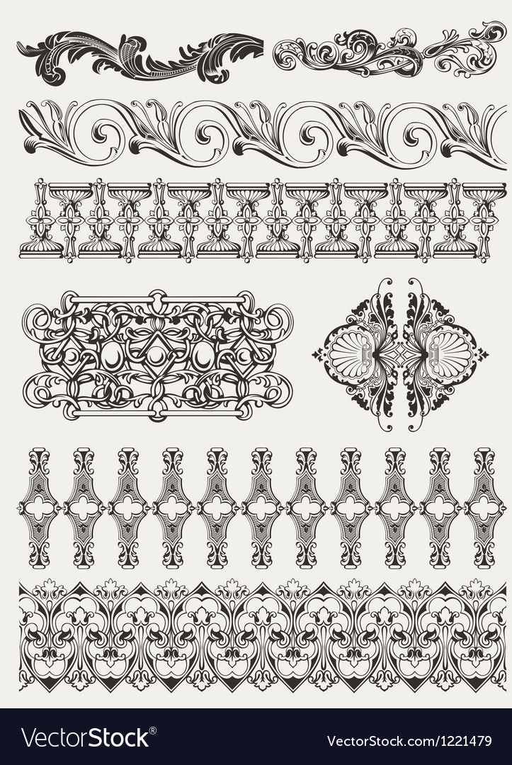Antique design elements and page decoration vector | Price: 1 Credit (USD $1)