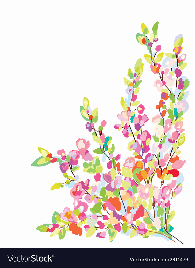 Flower border card for greeting card vector | Price: 1 Credit (USD $1)