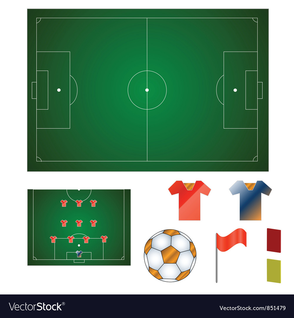 Football set vector | Price: 1 Credit (USD $1)