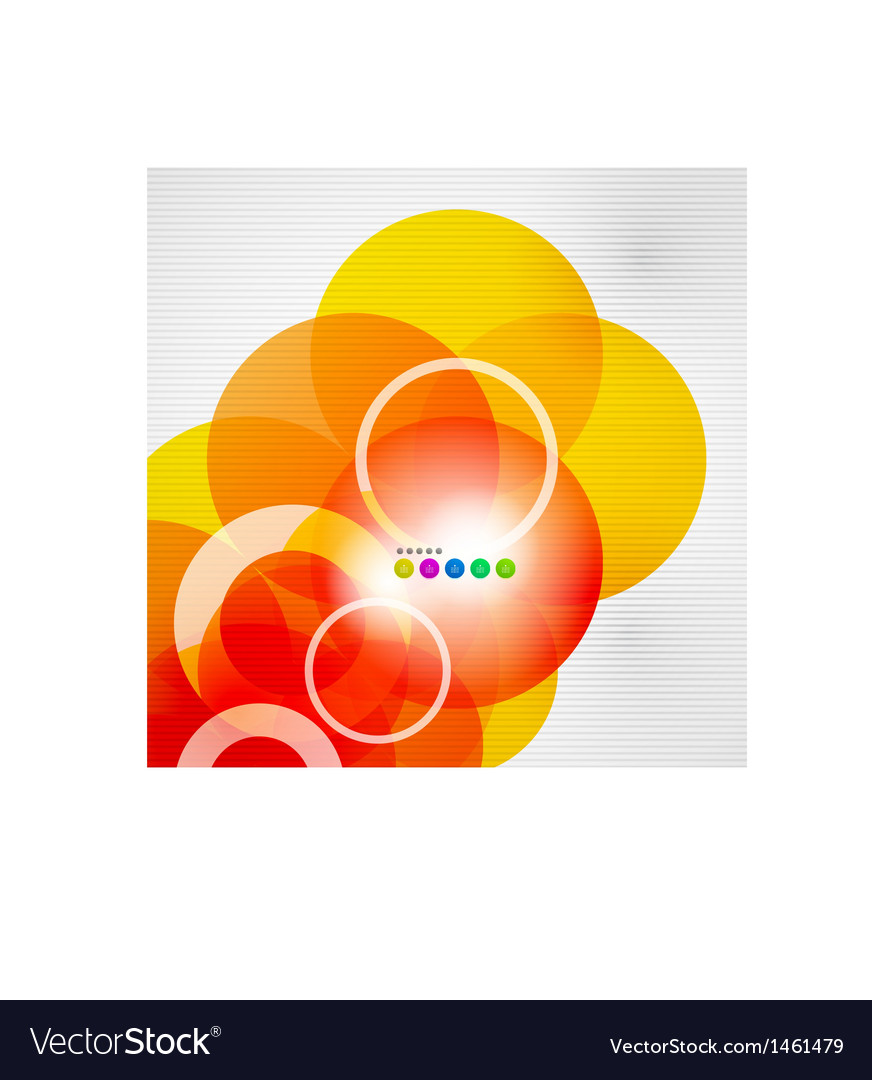 Geometric color circles modern template vector | Price: 1 Credit (USD $1)