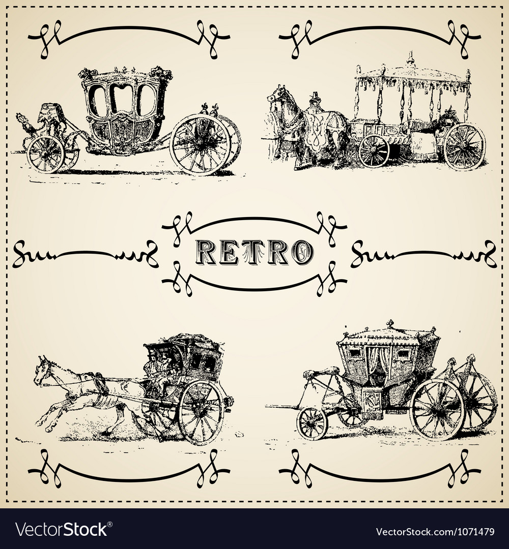 Modern and vintage cars silhouettes collection vector | Price: 1 Credit (USD $1)