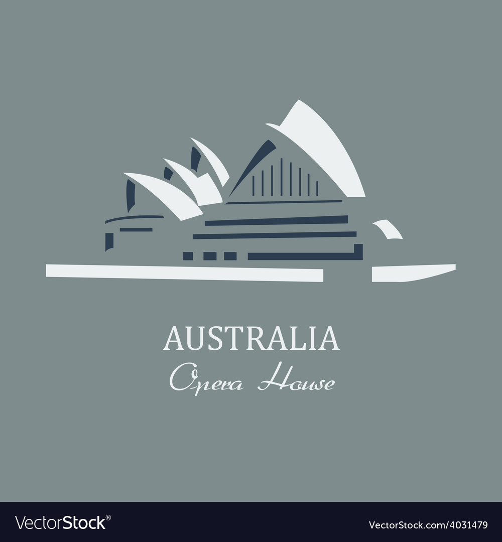 Opera house sydney vector | Price: 1 Credit (USD $1)