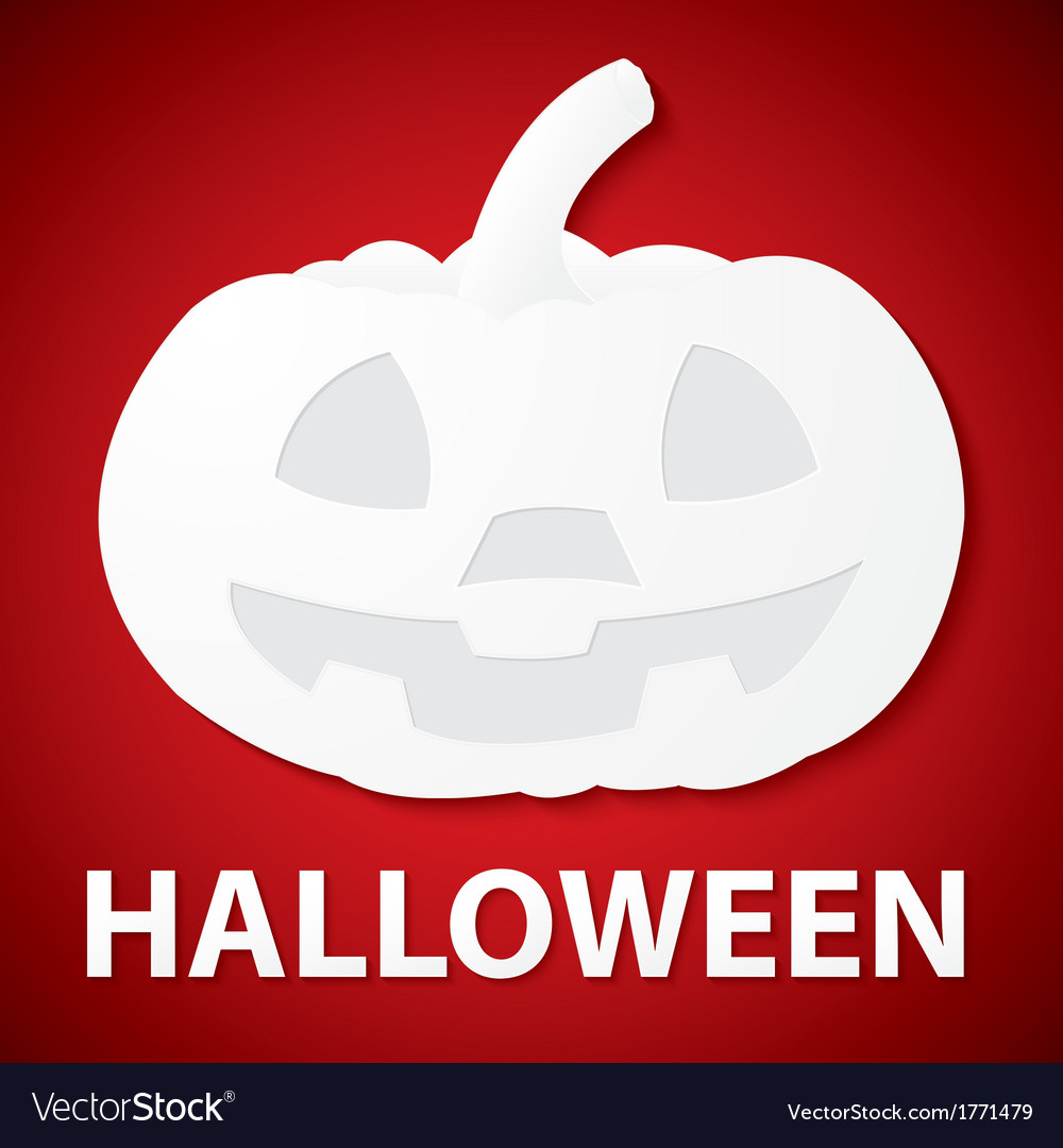 Pumpkin halloween paper vector | Price: 1 Credit (USD $1)