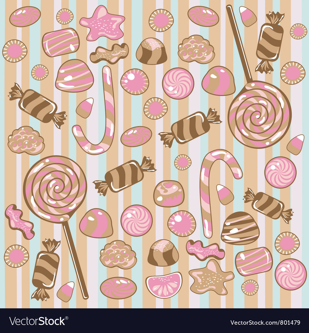 Seamless candy pattern vector | Price: 1 Credit (USD $1)