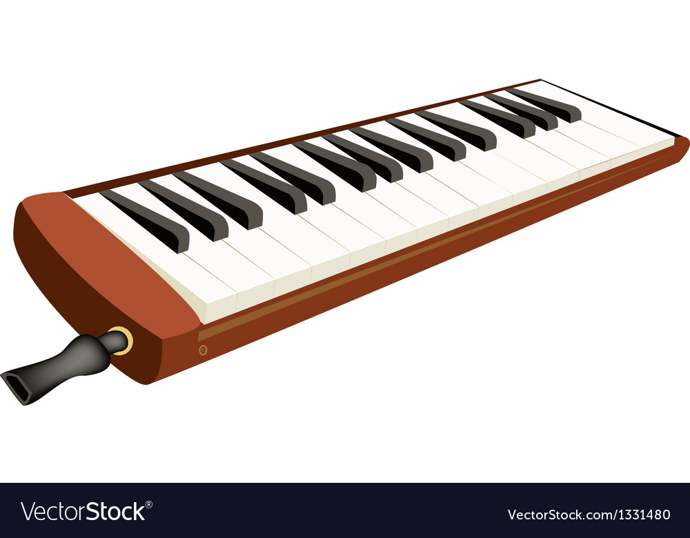 A musical melodica isolated on white background vector | Price: 1 Credit (USD $1)