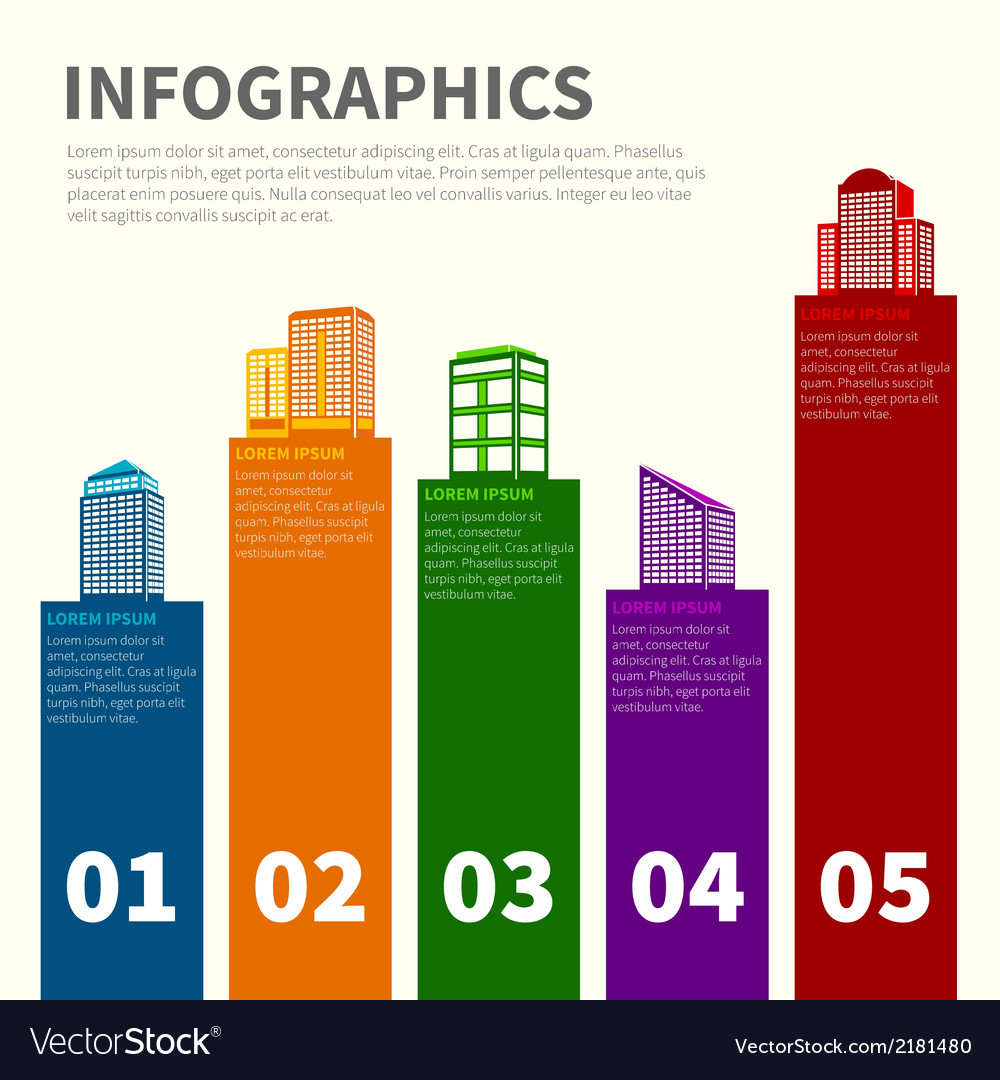 Building infographic set vector | Price: 1 Credit (USD $1)