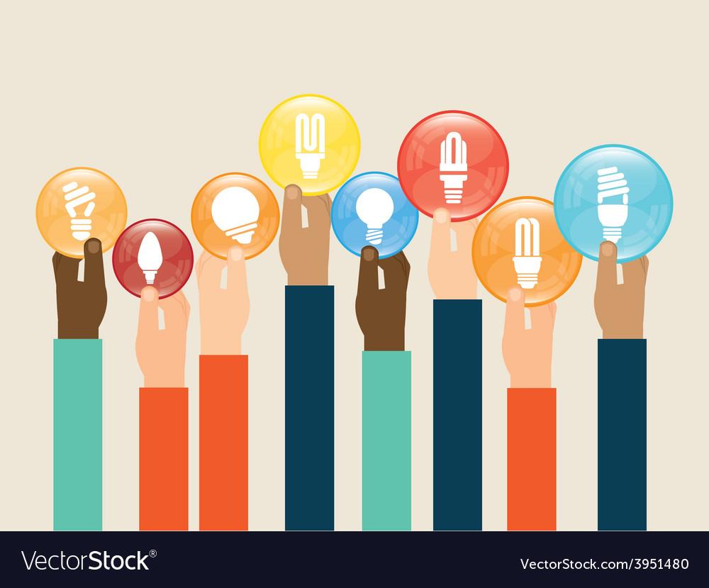 Bulb idea vector | Price: 1 Credit (USD $1)