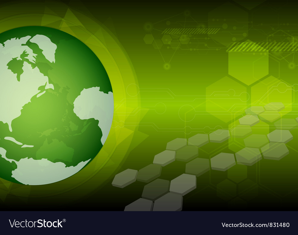 Global green technology vector | Price: 1 Credit (USD $1)