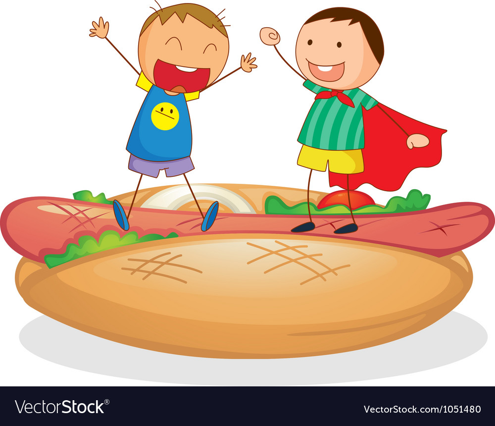 Hotdog kids vector | Price: 1 Credit (USD $1)