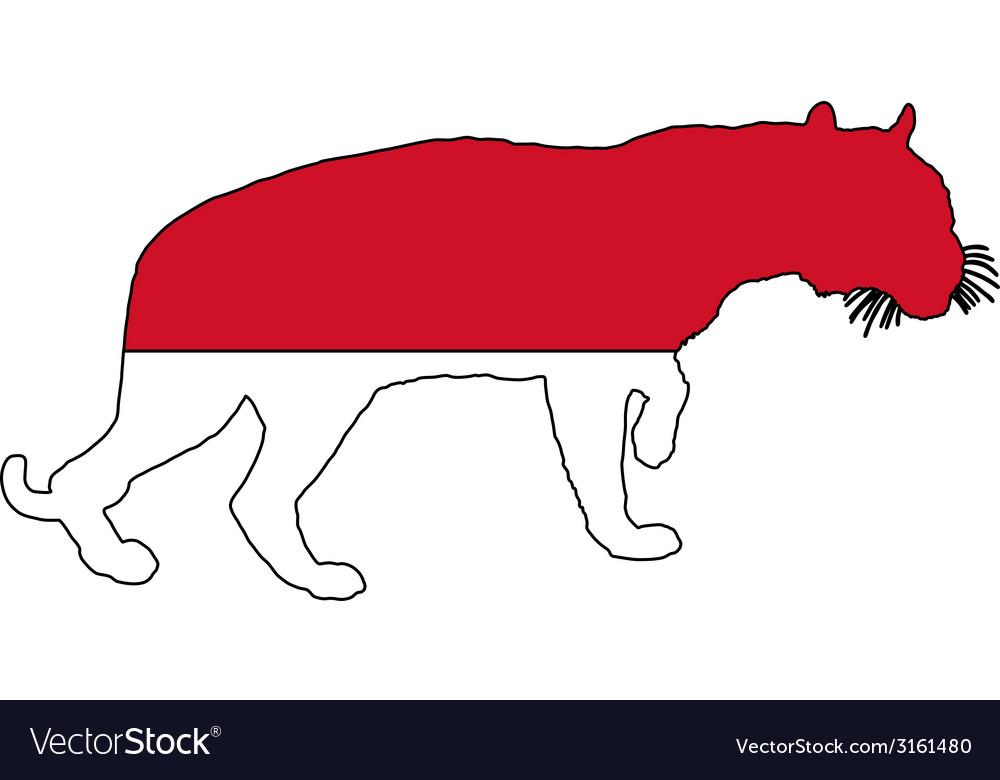 Indonesia tiger vector | Price: 1 Credit (USD $1)